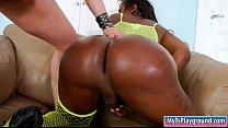 Sexy ebony shemale anal fucked bareback on the ... Thumbnail