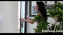 Busty Aunt Seduces step-Nephew staying over| Famxxx.com