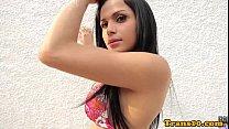 Latina ts beauty bouncing booty on cock Thumbnail