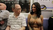 Bonnie Rotten walking topless in NYC