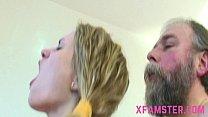 Old young fuck scene cumshot on chest of young tiny lolita stepdaughter
