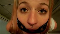 PervyPixie gagged while drinking Piss