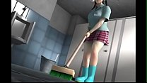 Cleaning Lady 3D Sex