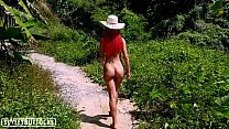 Great Ass Teen Nudes Walks Along the Paths in t...