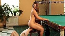 Pool table facesitting femdom