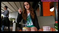 Exhibitionist Smoking Cigarettes & Showing Off ...