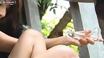 Lively Asian Girl With Perky Nipples Plays With... Thumbnail