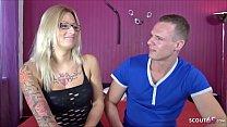 German Glasses Tattoo Teen Jasmin at Porn Casti...