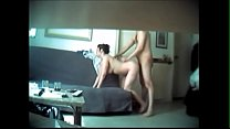 hot brunette wife cheating caught on cam - watc...