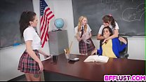 Teacher get lesbian payback from bad stundents