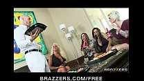 Big-boobed brunette MILFs share a big-dick in h... Thumbnail