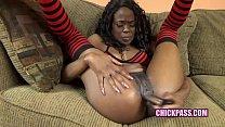 ChickPass - Ebony wife Melody Cummings fucks he...