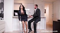 Extremly hot milf gets anally destroyed after a business meeting)