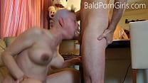 Bald headed slut deept-throat humiliation - Bal...