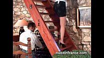 French maid gets her ass filled with cock and f...