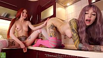 Purple Bitch and hellia sgh fuck their pussies ...