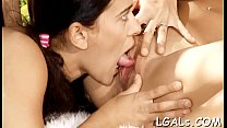 Take a look at two slutty girls playing lesbian...