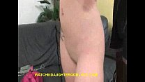 Blonde Sucking Black Cock In Front of Dad
