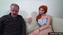 Russian redhead Gisha Forza gives bj to n fucke... Thumbnail