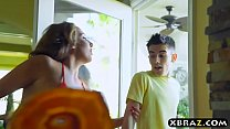 Young guy gets lucky with three MILFS at this bbq party Thumbnail
