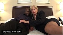 Old mature mommy banged by a Big Black Cock in Interracial Video