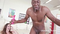 Hungarian Babe Cathy Heaven Loves BBC with DAP and Balls Deep Anal thumbnail
