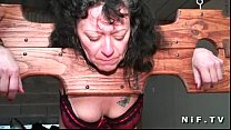 French mature hard fisting and bdsm action