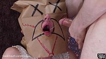 Bagged and gagged -- hard mouth fucking and rim...