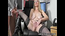 Busty amateur Milf sucks and fucks with cum on ...