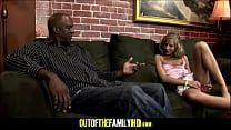Black Step Dad Fucks Tiny Blonde Teen Thumbnail
