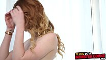 Young redhead Katy Kiss gets fucked and filled ...