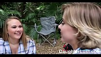 Horny Daughters Fuck Dads on Camping Trip |Dau... Thumbnail