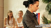 A dominating teacher gives a painful lesson for... Thumbnail