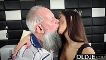 Morning Breakfast sex OLD and YOUNG Teen gives ...