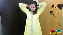 Indian Bhabhi Sonia In Yellow Shalwar Suit Gett...