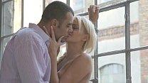Horny blondie takes her lovers cock