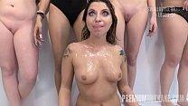 PremiumBukkake - Kattie Hill swallowing 52 huge...