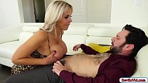 Slut milf fucks attorney and squirts Thumbnail