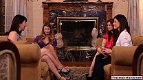 Lesbian milfs sharing new teen member