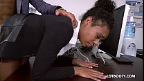 Sexy lovely secretary ebony Ivy Young fucked in... Thumbnail