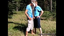 Broken anus gay porn movies Roma and Artur Piss Play Outside