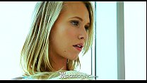 Passion-HD - Hot blonde teen Dakota James sits on her man's dick