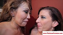 Ava Devine and Sara Jay cum swapping