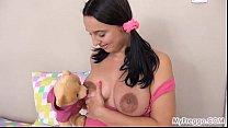 Alyssa Masturbates with Her Teddy Bear!
