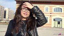 GERMAN SCOUT - Teeny mit Zahnspange bei Casting Anal gefickt