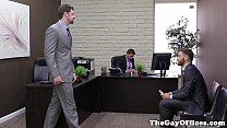 Gay uniform hunks sticky threesome fun Thumbnail