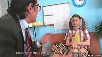 Shy girl came to her teacher for help, but he t...