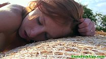 Pulled euro teen redheads outdoor fuck