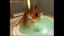 Lucky guy with two sexy teens in jacuzzi