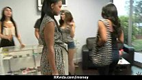 Stunning Euro Teen Gets Talked In To Giving A Blowjob For Cash 15